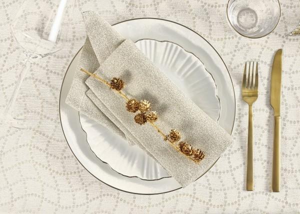 Weihnachtstischdecke Perlenkette