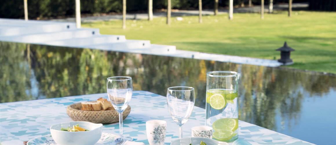 Tischdecke für den Gartentisch