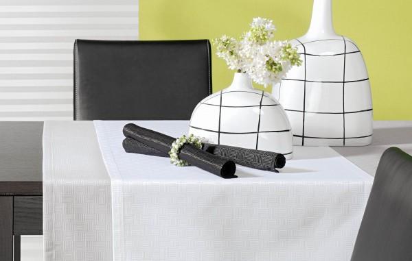 Tischdecke Quadrat: Baumwoll-Mischgewebe