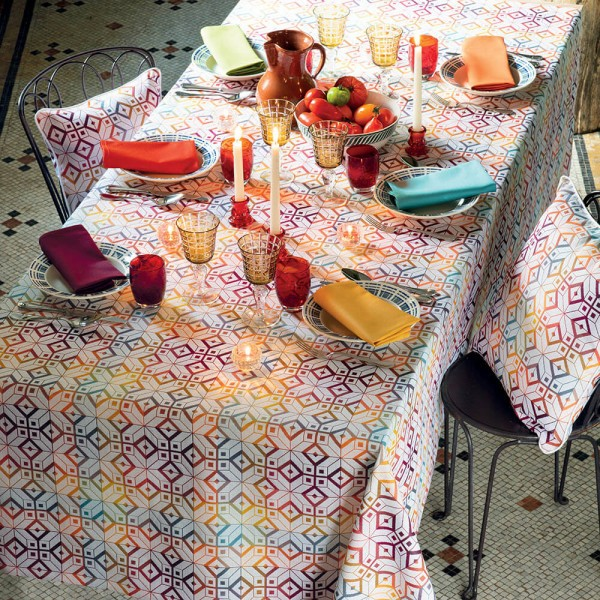 Jacquard Tischdecke Mille Paves