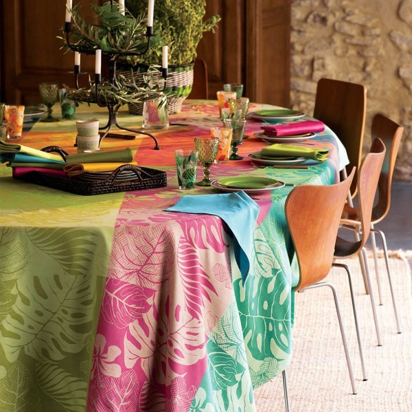 Abwaschbare Tischdecke Mille Palma Enduit