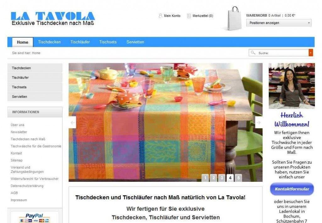Tischdecken La Tavola Onlineshop