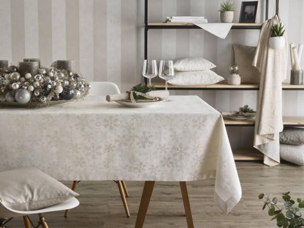 Weihnachtliches Tischset Eisblumen