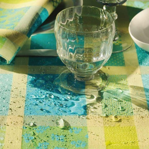 Abwaschbare Tischdecke Mille Ladies Enduit Chlorophylle