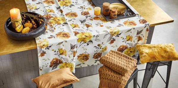 Tischdecke Herbstrosen