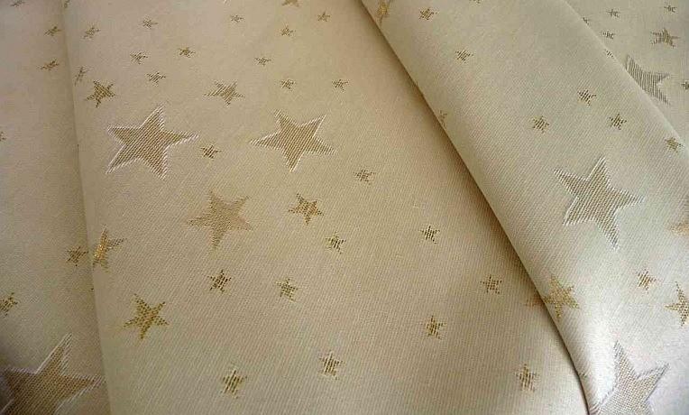 Weihnachtstischdecke Sternenhimmel Gold