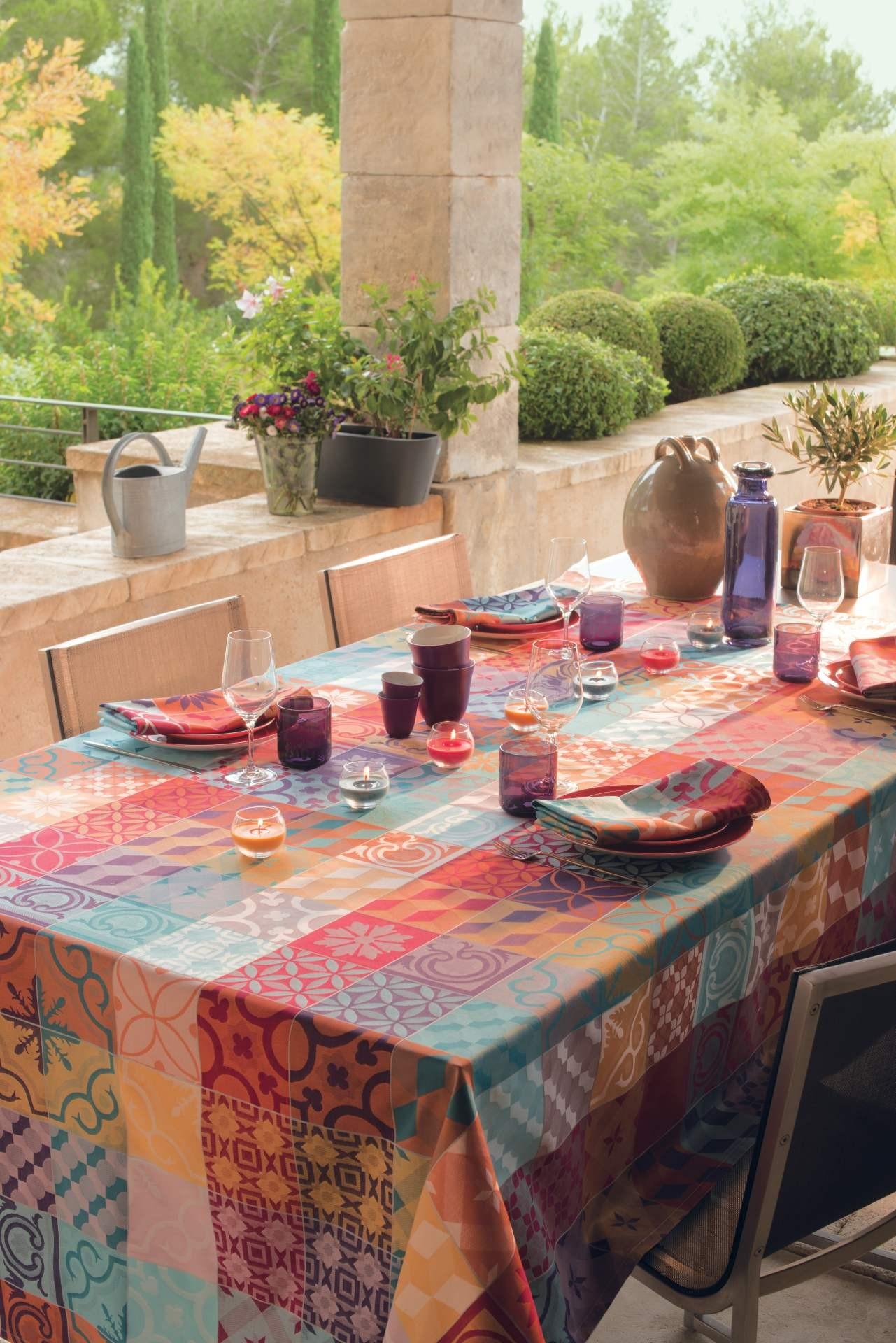 abwaschbare tischdecken und tischl ufer mille tiles enduit la tavola. Black Bedroom Furniture Sets. Home Design Ideas