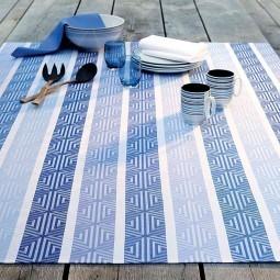 Abwaschbare Tischdecke Mille Zigzag Enduit