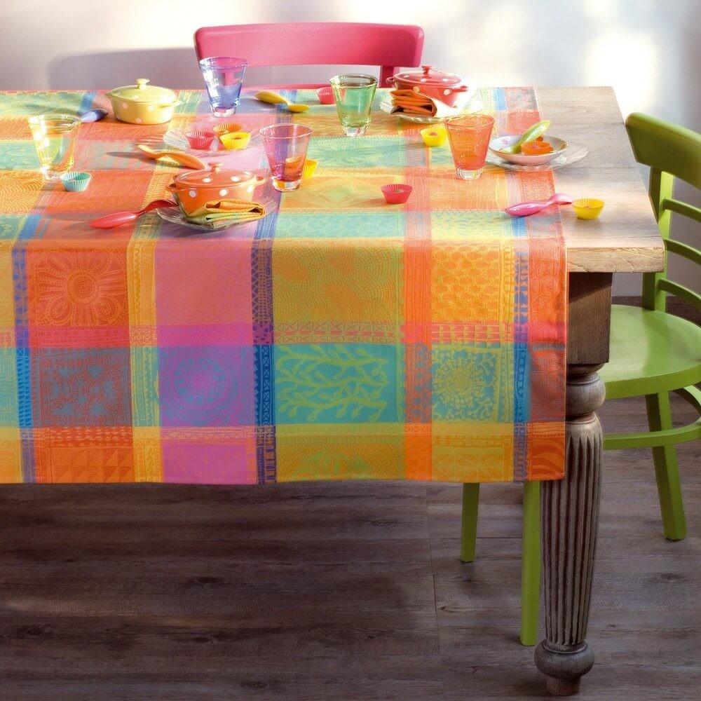Abwaschbare Tischdecke Mille Wax Enduit, Farbe: Creole