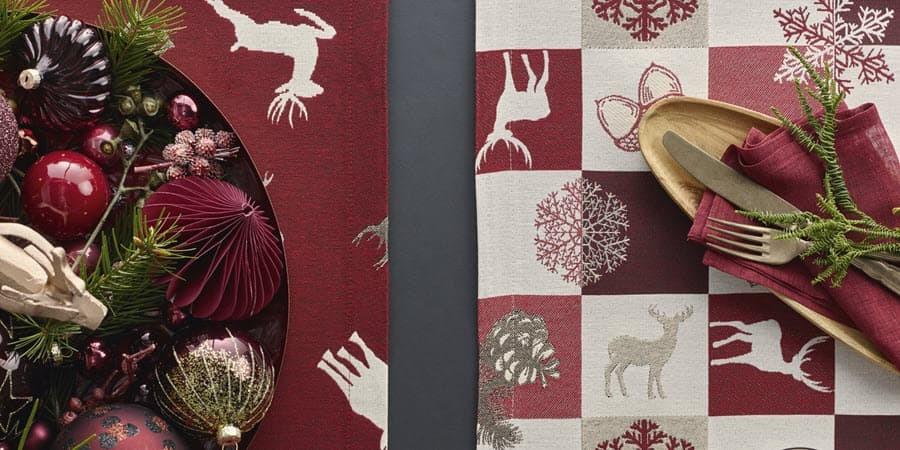 Weihnachtstischdecken Inspiration bei La Tavola