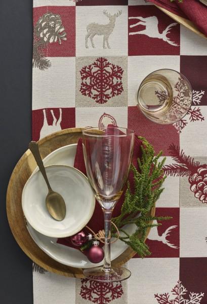 Weihnachtstischdecke Patchwork