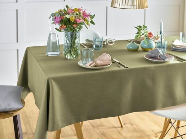 Fleckgeschützte Tischdecke Love