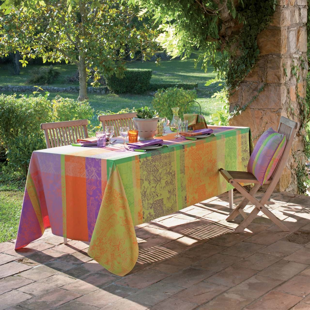 abwaschbare tischdecken und tischl ufer mille patios enduit. Black Bedroom Furniture Sets. Home Design Ideas