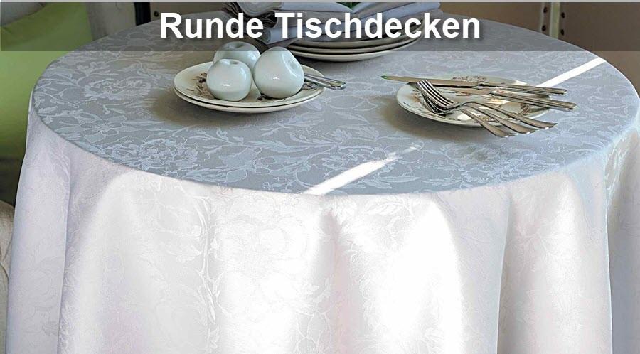 Runde Tischdecken