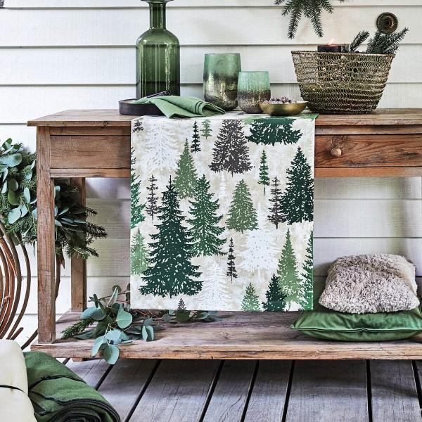 Weihnachtstischdecke Winter-Trees